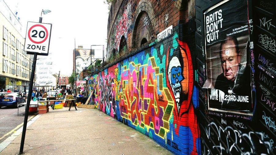 Brits don't quit Street Art Graffiti Brexit London Streets Wanderlust EyeEmNewHere