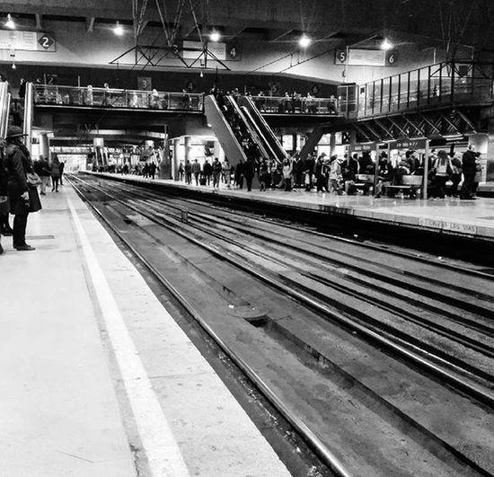 Scape! Railways_of_our_world Railway Railwaystation Atocharenfe Cercaniasmadrid Blancoynegro Blackandwhite Bnwshot Bnwlife Monochromatic Monochrome Publictransport