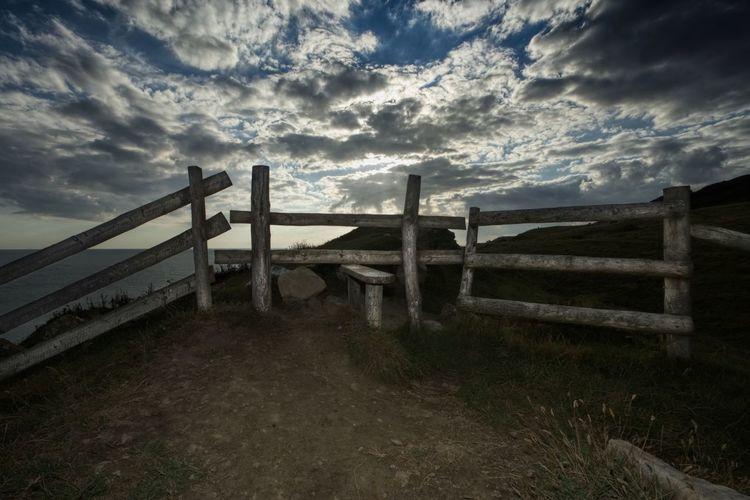 Cloud - Sky Grass Landscape Nature Outdoors Scenics Sky Wood - Material