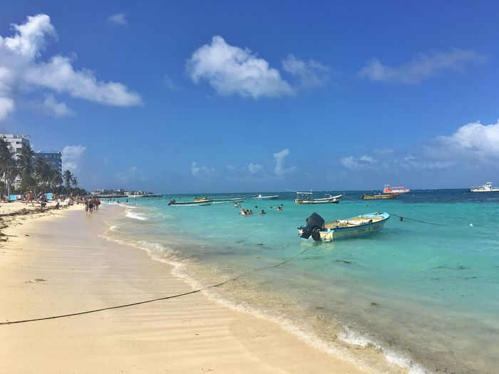 Sea Water Beach Land Sky Sand Cloud - Sky Beauty In Nature Trip Holiday Vacations Transportation Tranquility Nautical Vessel Horizon
