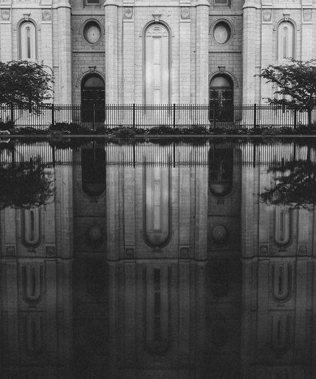 Architecture Building Church Of Jesus Christ Of Latter Day Saints Façade Historic Mormon Pool Reflection Salt Lake City Temple Temple Square