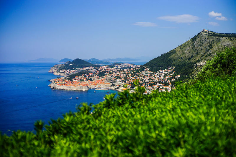 Top view of Dubrovnik, Croatia Building Exterior Water Architecture Sea Built Structure Sky Mountain Plant Nature Building City Beauty In Nature Residential District No People Scenics - Nature Land Tree Town Day Outdoors Cityscape TOWNSCAPE Game Of Thrones Croatia Old Town Top View Shot