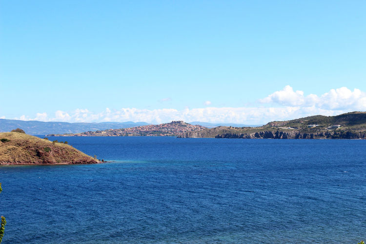 Beauty In Nature Blue Calm Coastline Day Greece Idyllic Island Islandlife Lesvos Lesvos Greece Molyvos Nature No People Outdoors Scenics Sea Sky Tranquil Scene Tranquility Travel Destinations Water