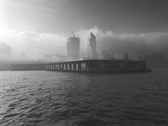 Architecture Built Structure Building Exterior Waterfront Sky Water River Outdoors Cloud - Sky Skyscraper No People Day City TheMinimals (less Edit Juxt Photography) Horizon Over Water Transportation