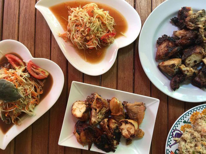 papaya sarad Food Freshness Plate Thailand Local
