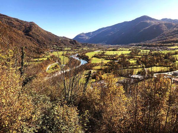 Tranquil Scene Beauty In Nature Mountain Scenics Landscape Outdoors Clear Sky Foliage Caporetto Slovenija