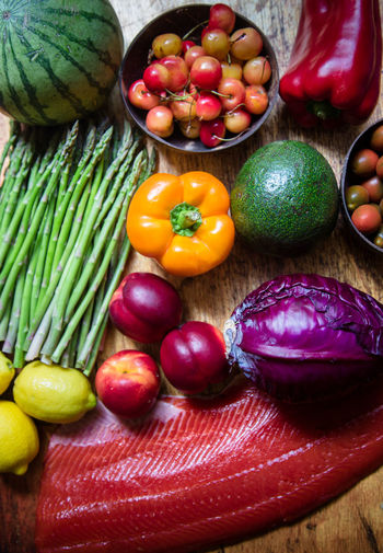 Fruits and vegetables at market stall