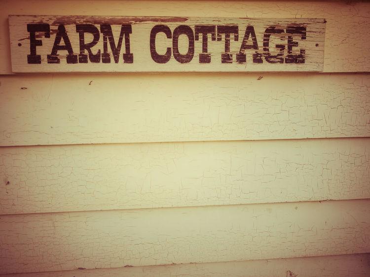Farm cottage Building Building Sign Capital Letter Close-up Cottage Farm Cottage Information Sign Text