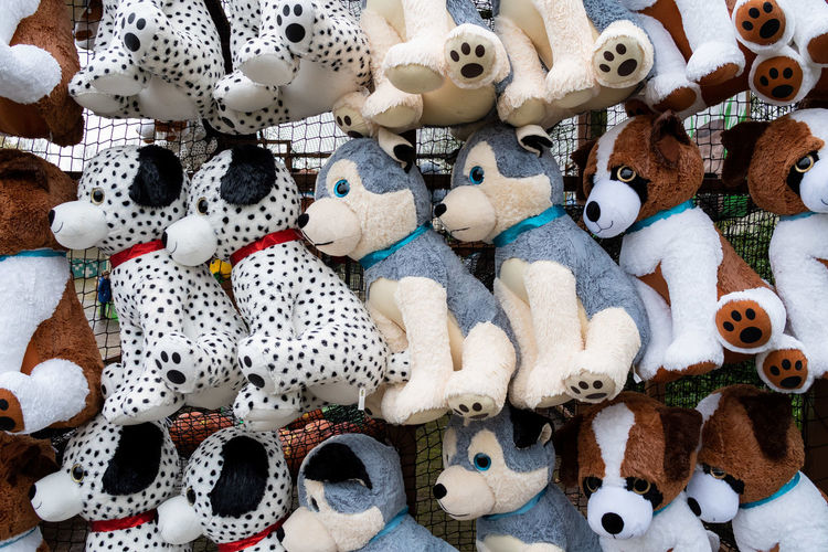 Abundance Animal Representation Arrangement Art And Craft Backgrounds Choice Collection For Sale Full Frame High Angle View Large Group Of Objects Market No People Representation Retail  Retail Display Sale Shopping Still Life Stuffed Toy Toy Variation