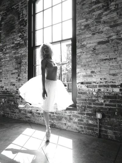 Ballet Ballet Dancer Black And White Day Full Length Indoors  One Person Standing