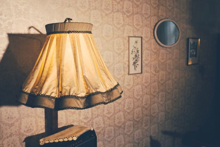 Electric Lamp Hanging Indoors  No People Lamp Shade  Home Interior Coathanger Close-up Day EyeEmNewHere Austria