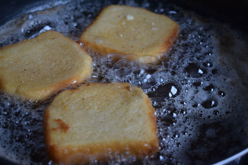EyeEm Selects Cooking Preparing Food Torrijas Food And Drink Healthy Eating Food Food And Drink Healthy Lifestyle Ready-to-eat Selective Focus Studio Shot Close-up Still Life Photography Still Life Minimalism Indoors  High Angle View