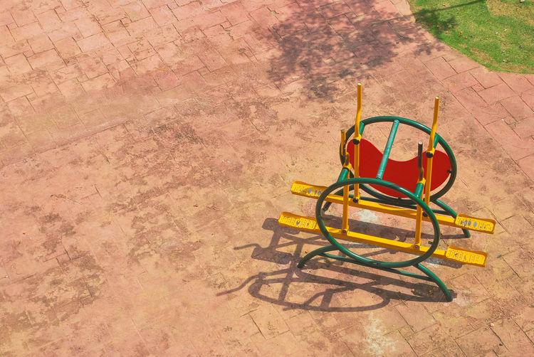High Angle View Of Playground