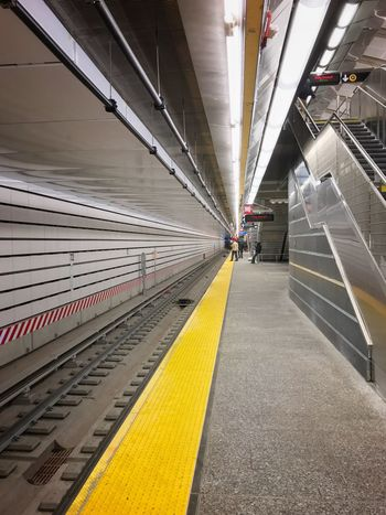 Paint The Town Yellow Transportation Indoors  The Way Forward Yellow Architecture Subway Platform