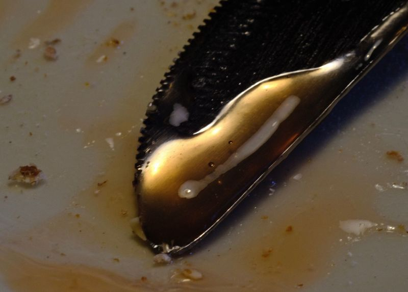 Knife Close-up Indoors  No People Kitchen Utensil Eating Utensil Still Life Food Eaten Food And Drink High Angle View Household Equipment Wood - Material Metal