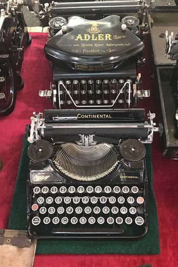 Typewriter Old-fashioned Antique Text Retro Styled The Past High Angle View Technology No People History Machinery Communication Black Color Vintage Arts Culture And Entertainment Table Red Alphabet Writing Writing Letters Close-up On Sale IPhone Photography Turkey