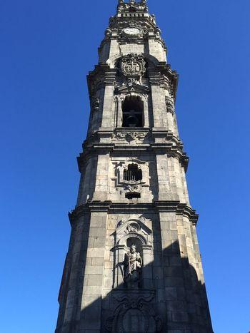 Torredosclerigos Porto Portugal Architecture Church Blue Sky Sunnyday Traditional Lookup Higher