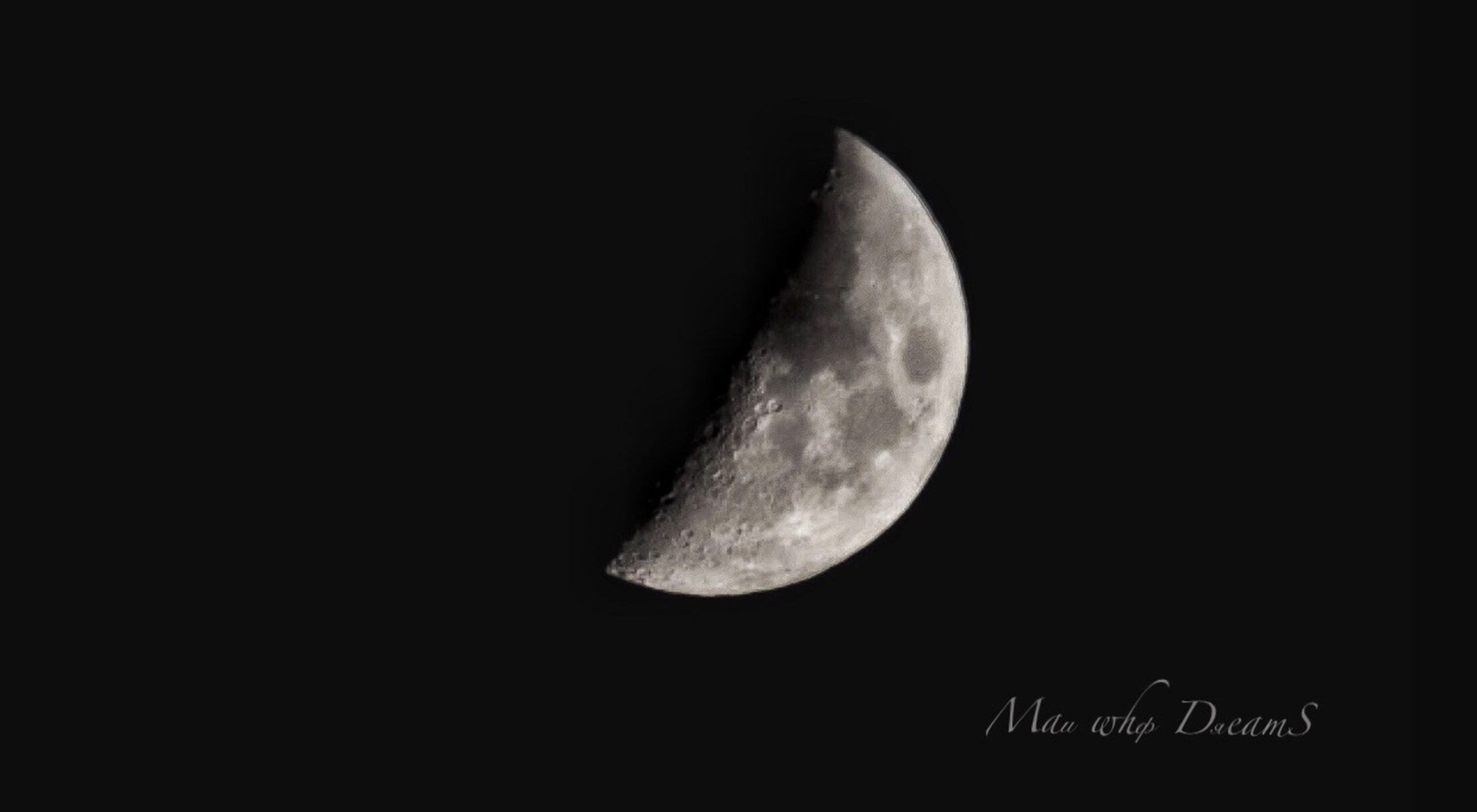 astronomy, moon, space, night, sky, beauty in nature, scenics - nature, half moon, nature, copy space, moon surface, low angle view, no people, planetary moon, crescent, tranquility, tranquil scene, space exploration, dark, outdoors, astrology, moonlight, space and astronomy, eclipse