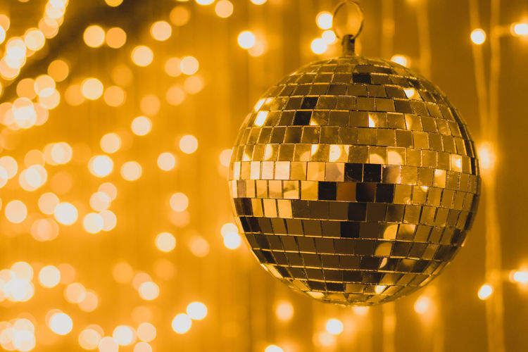 Arts Culture And Entertainment Celebration Celebration Event Close-up Decoration Disco Ball Disco Dancing Entertainment Club Event Glowing Illuminated Indoors  Lighting Equipment Night Nightclub Nightlife No People Party - Social Event Pattern Reflection Shiny Silver Colored Sphere