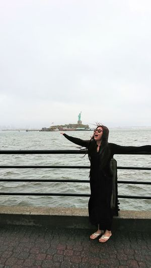 Myqueen Portrait Only Women One Person One Woman Only People Full Length Sea Day Water Cloud - Sky Sky Statue Of Liberty New York Wife Wifey Titanic Titanic Moment Flying First Eyeem Photo