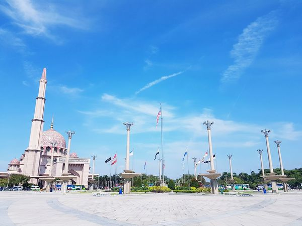Dataran Putra on sunmy day Sky No People Day Cloud - Sky Blue Outdoors Architecture Cityscape