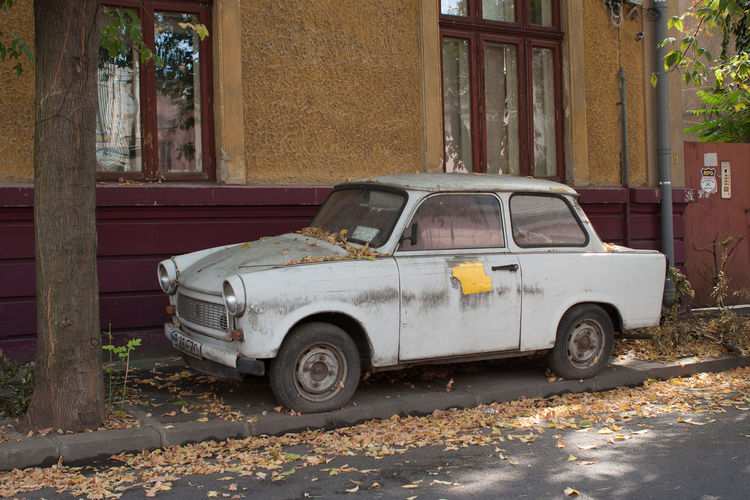 Trabant 601 601 Trabant Abandoned Architecture Building Building Exterior Built Structure Car City Damaged Day Deterioration Land Vehicle Mode Of Transportation Motor Vehicle No People Obsolete Old Outdoors Retro Styled Rusty Street Trabant601 Transportation Vintage Car