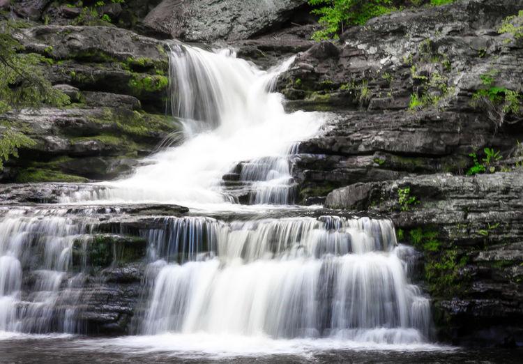 Waterfalls in the Poconos. Nature Waterfall Hiking