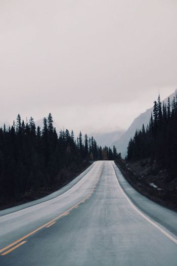 Icefields Parkway, Canada. Icefieldsparkway Canada Open Road Chilly Nature Driving Travel Road Roadtrip