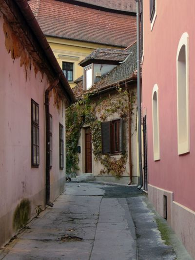 Architecture Building Exterior Built Structure Door Győr Outdoors Pink Street