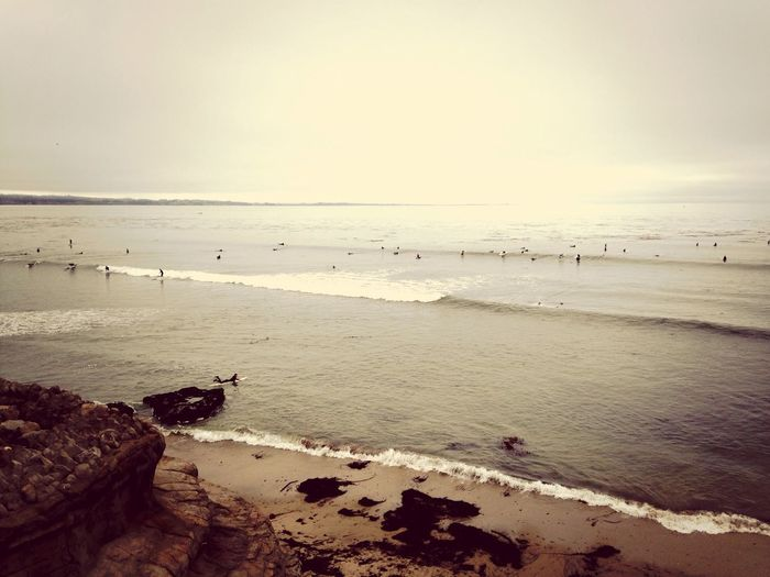 Catchin some waves at Pleasure Point Surfing California