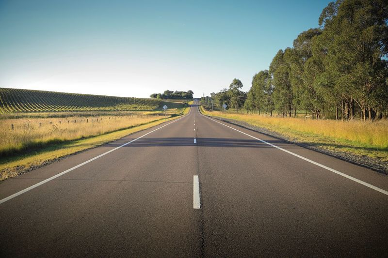 Drive Open Road Direction The Way Forward Diminishing Perspective Road Sky Symbol Sign vanishing point Transportation Road Marking Nature Clear Sky No People Tranquil Scene Beauty In Nature Tranquility