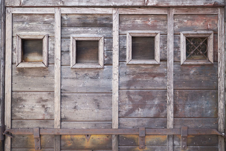 Architecture Backgrounds Building Exterior Built Structure Day Door Full Frame No People Outdoors Venice Wood - Material In Venice