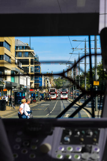 Cab View City Life Land Vehicle Mode Of Transport On The Move Road Street Tram Transportation Mobility In Mega Cities