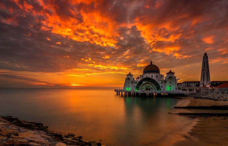 Mosque seascape