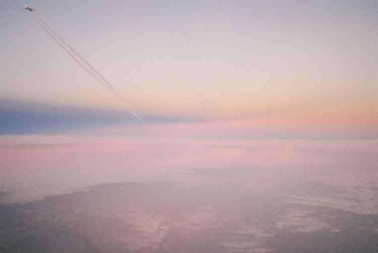 Travel Plane Flight Film Photography 35mm Film Filmisnotdead Analogue Photography Explore Sky Beauty In Nature Scenics - Nature Sunset Cloud - Sky Tranquility Tranquil Scene Dramatic Sky Aerial View