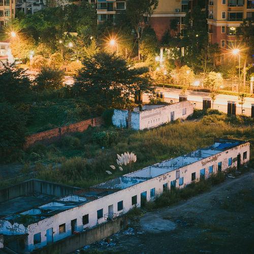 一面墙,冷暖世界。 City Landscape Architecture Night Chengdu