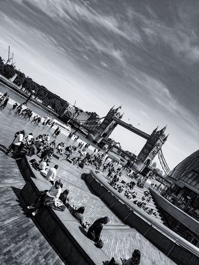 Tower Slide Huaweiphotography United Kingdom P20 Pro Mobile Photography Huawei P20 Pro Travel Blackandwhite Leica Lens Love Street Photography Travel Travel Destinations Travel Photography Sky Nature Day Architecture Cloud - Sky Built Structure Building Exterior Sunlight Tilt City Outdoors High Angle View Street Sunny Building