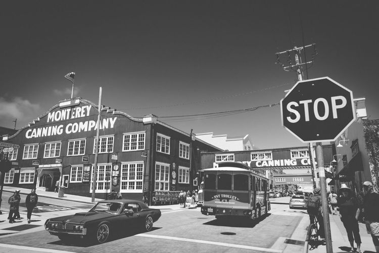 Black Building Built Structure California Canning Car Cat City Company Day Exterior Old-fashioned Oldschool Outdoors Pedestrian Walkway Pedestrians People S Street Walk Water White