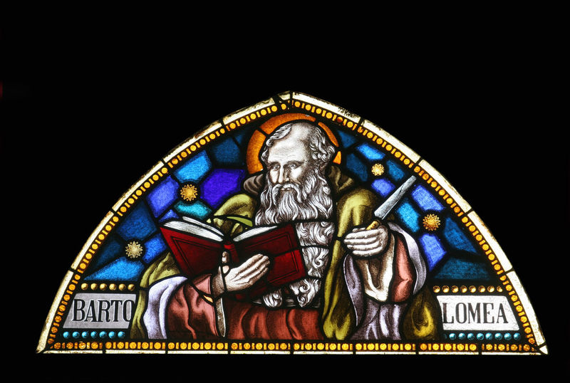 Saint Bartholomew Abbey Bartholomew Belief Christianity Church Convent Faith Glass Holy Patron Religion Religious  Sacred Saint Spiritual Stained Window Windowpane Worship