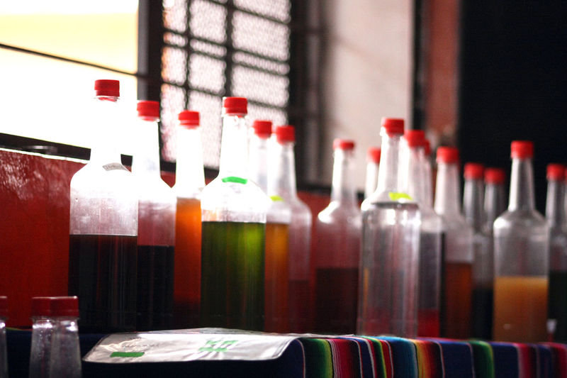 Bottle Close-up Group Of Objects Large Group Of Objects Multi Colored Red Repetition Side By Side Still Life