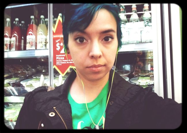 Forget wearing red to Target. I always seem to wear green to Fresh & Easy. #dorkypicofme