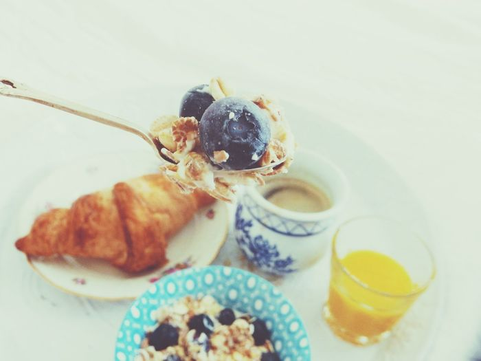 My Favorite Breakfast Moment Breakfast In Bed Breakfast Juice Coffee Croissant Blueberries Yoghurt Muesli Muesli With Yoghurt And Fresh Fruits Market Reviewers' Top Picks