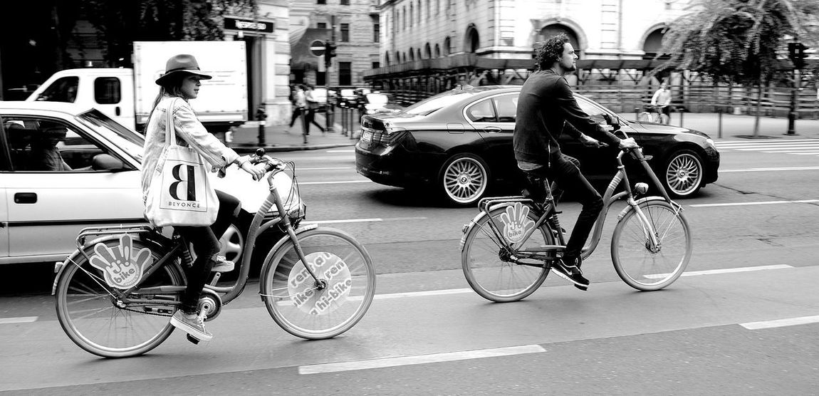 Breathing Space Car Bicycle Transportation Mode Of Transport Land Vehicle City Life Street Full Length City Cycling Only Men Men Outdoors Adult People Adults Only Day One Man Only One Person Biker Real People Adults Only Portrait Budapest