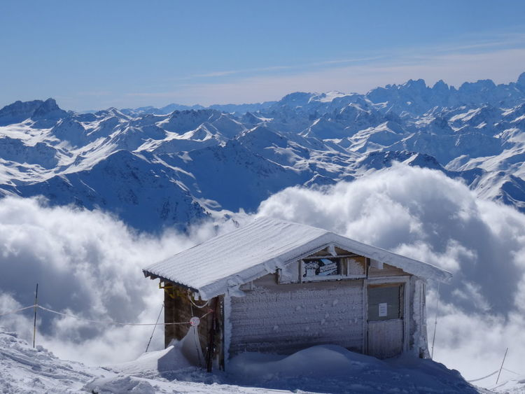 above the sky Le Mont Blanc Skiing France🇫🇷 Les3vallées ValThorens  Winter Travel Destinations Meribel Outdoors No People Sky Scenics Nature Building Exterior