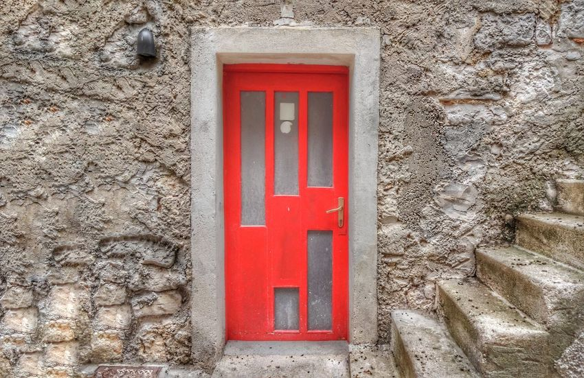 Red Architecture Built Structure Day Building Exterior Door No People Outdoors Close-up