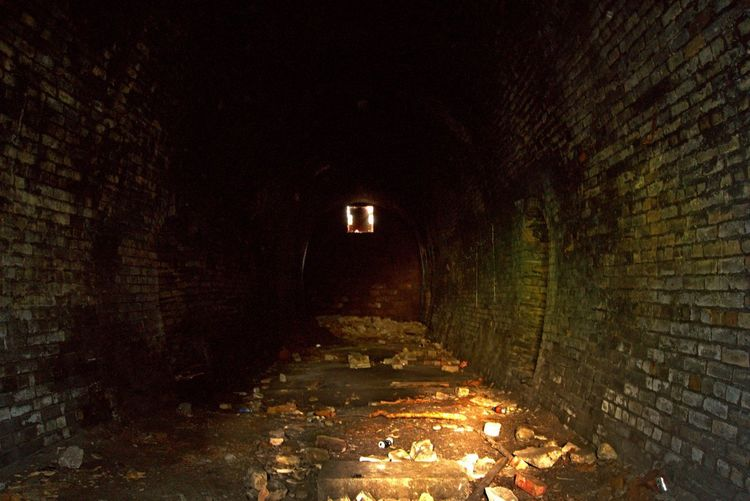 Dead End Derelict Abandoned Places Abandoned Night Illuminated Architecture Built Structure Building Exterior No People Lighting Equipment Outdoors Dark