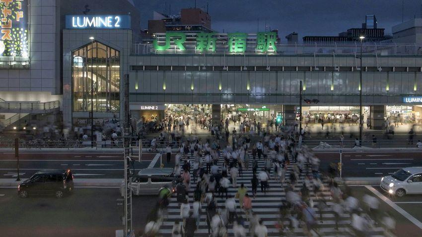 新宿駅南口 Shinjuku Station Crosswalk People People Watching Cityscapes Tokyo Cityscapes Capture The Moment Urban Lifestyle Life In Motion Vanishing Point Light And Shadow 16:9 Crop Tokyo From My Point Of View