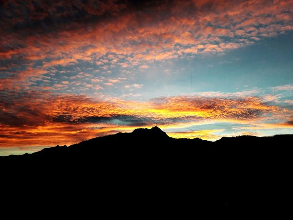 Sunset Dramatic Sky No People Beauty In Nature Cloud - Sky Mountain Outdoors