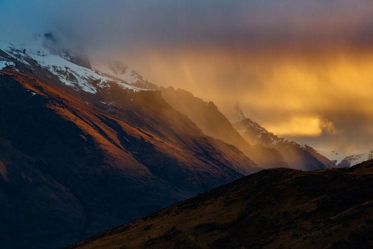 Nature Queenstown Nz Winter Clouds Landscape Mountain Mountain Range New Zealand Sky Snow Sun Sunset