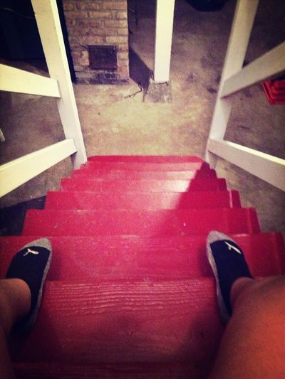Sweating My Ass Off Running Up And Down These Stairs.... My Own Lil Work Out Now Im Finna Do Some Squats And Sit Ups....